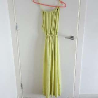 Maxi Lime Dress XS
