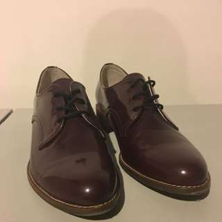 Plum Oxford Shoes