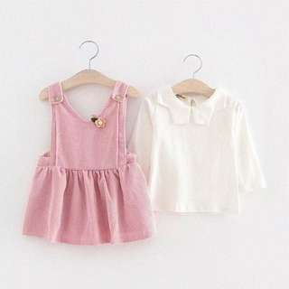 MBS1016- Two Piece Pinafore Set