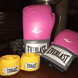 Everlast Gloves and Hand Wraps