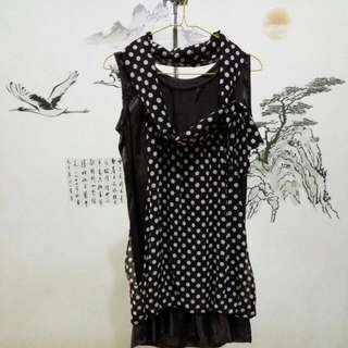 Dress Polkadot Coklat