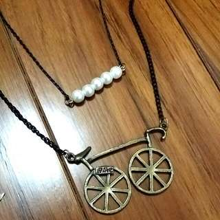 腳踏車&珍珠項鍊