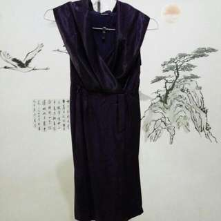 Dress Ungu Elegan