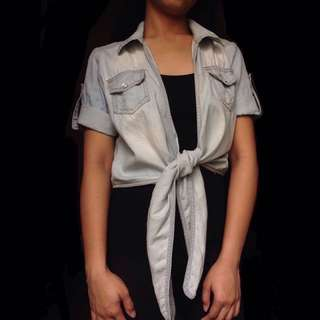 Short Sleeved Light Denim Bolero