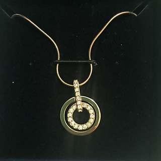 Swarovski Rose Gold Circle Pendant
