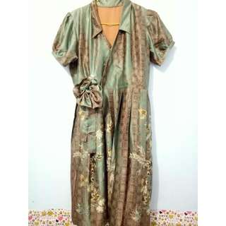 Batik Sutra Pleated Dress