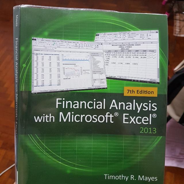 7th ed financial analysis with ms excel books stationery