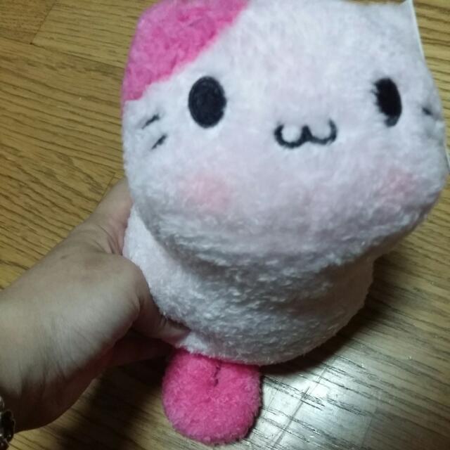 可愛粉色貓