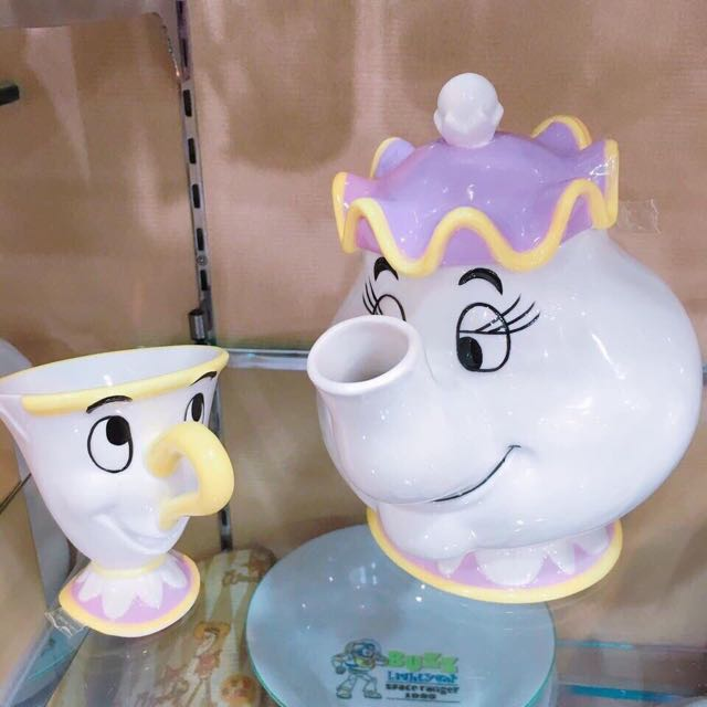 現貨抵台 阿奇杯 茶壺媽媽 茶具組 1杯+1茶壺優惠價1850美女與野獸 盒裝禮物