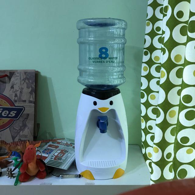 小型 飲水機 企鵝 免插電
