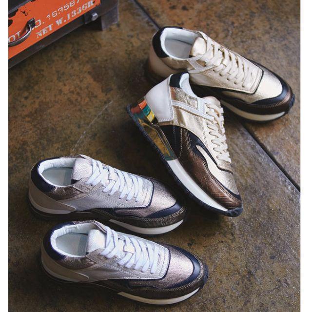 正韓 金屬光澤 亮眼吸睛 皮革質感 休閒鞋/運動鞋/懶人鞋 KR060303 POCKET@PCK