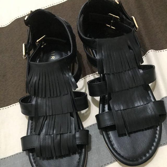 全新/ air space 流蘇涼鞋