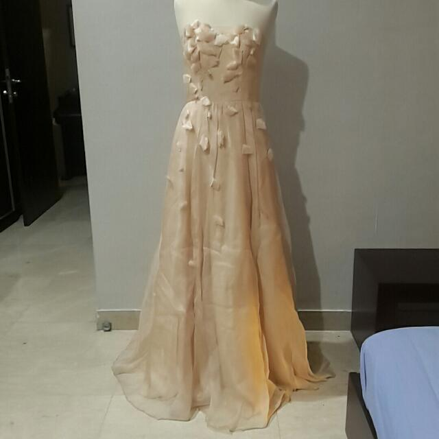 AUTHENTIC ABS NUDE PEACH DRESS SIZE US 4
