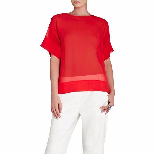 BCBG MAX AZRIA Mireya Relaxed Silk Tshirt - Size XS - 55% Off!!