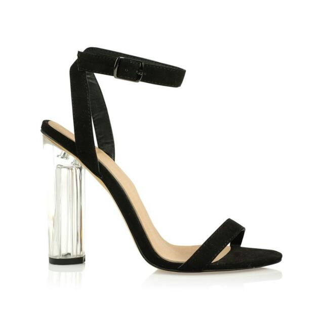 Billini Size 7 Perspex Heels Suede