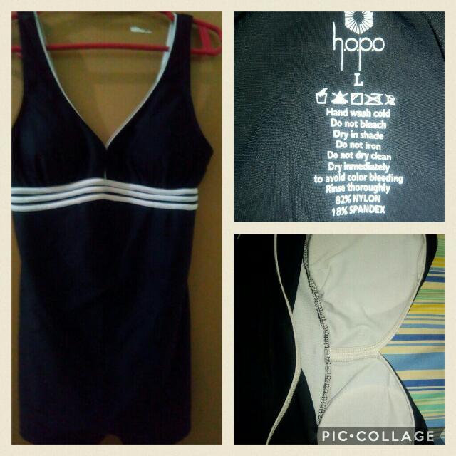 Black Boyleg One Piece Swimsuit