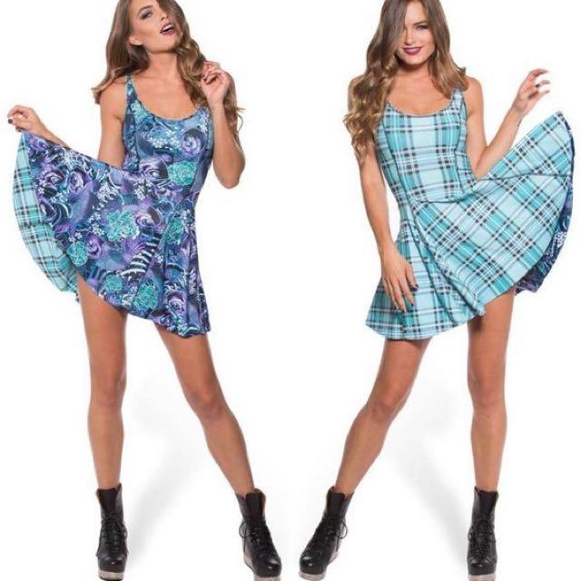 BlackMilk Clothing Tartan Aqua Vs Koi iod