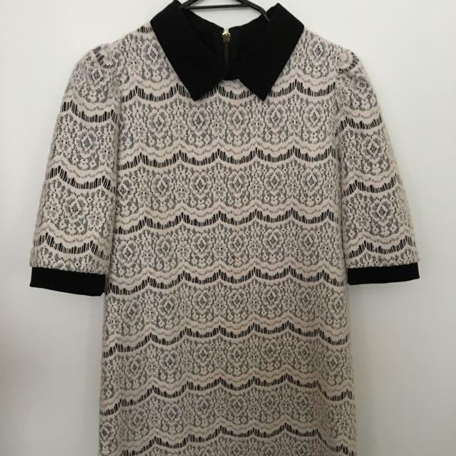 Black/White Mid Dress