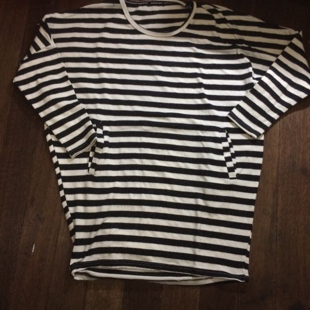 Bland And White Stripes Top/ Dress