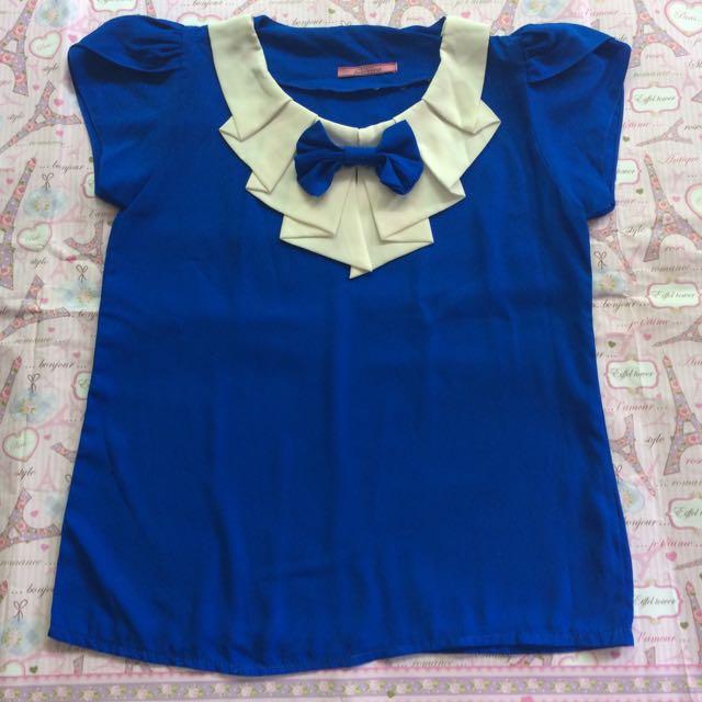 Blue Sailor Top