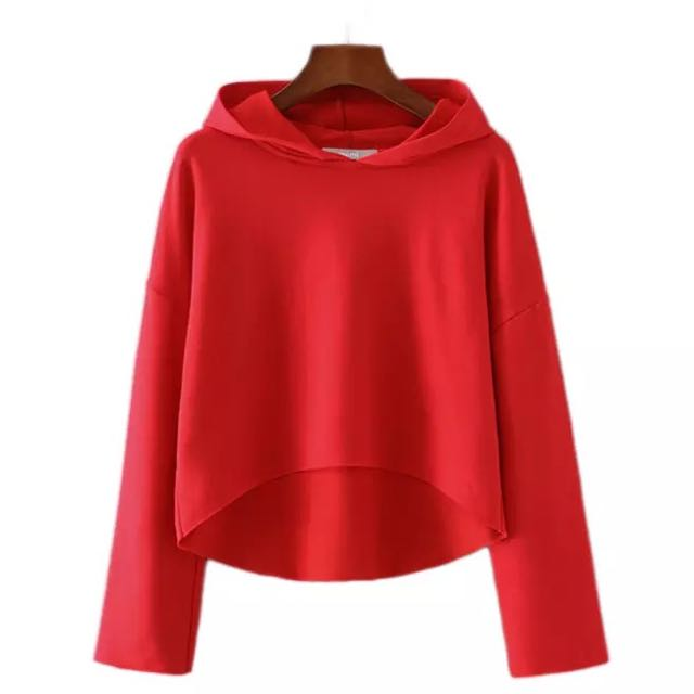 eee746ec5 BNWT (Instock) Red Hood Crop Top, Women's Fashion, Clothes, Tops on ...