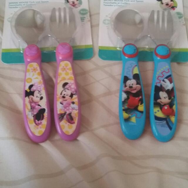 Brand New Micky And Minnie Cutlery