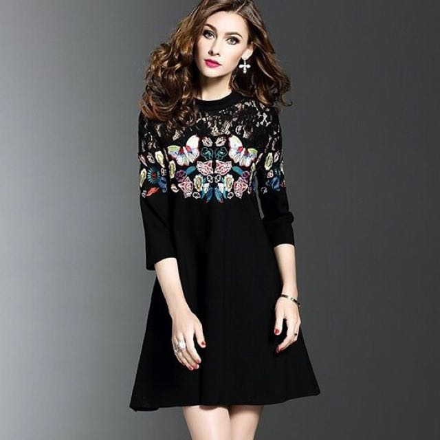 Butterfly Lace Dress