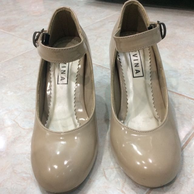 CLEVINA Nude Pump Shoes Heels