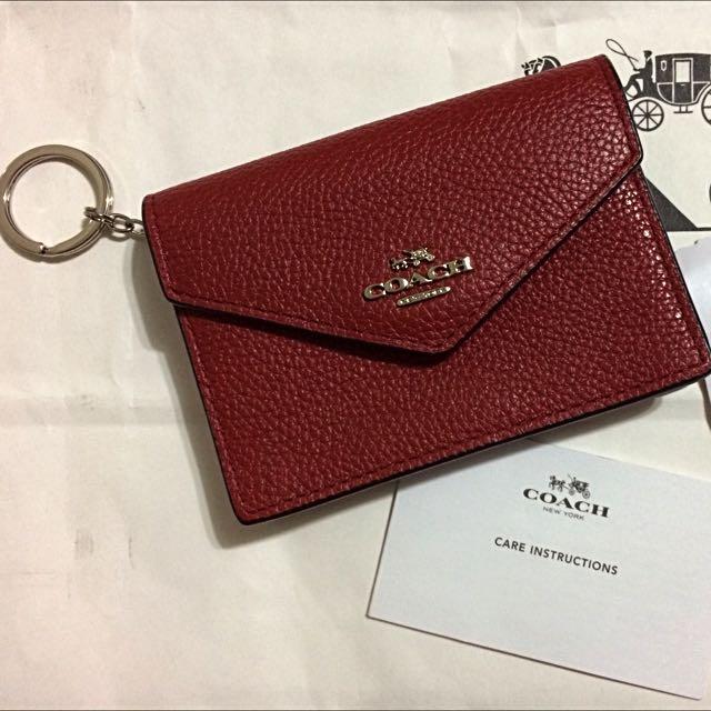 quite nice e7856 4096d COACH Envelope Card Case