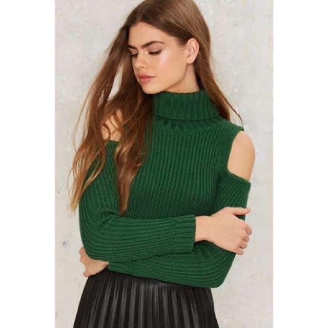 Cold Shoulder Knit Top From Bardot Size 10