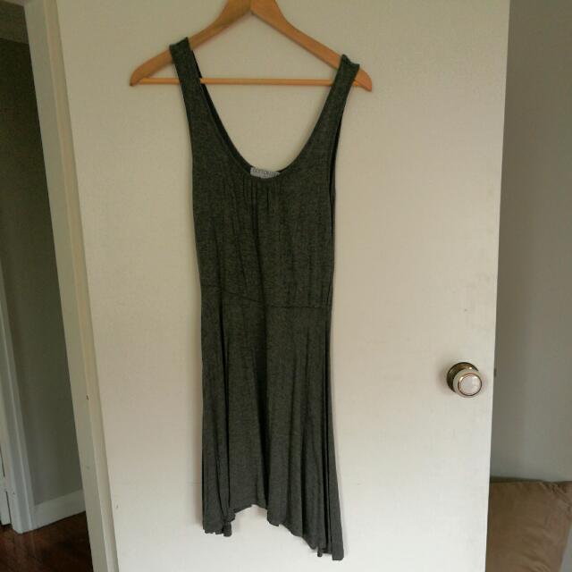 Cotton On Grey Skater-style Dress Size Medium