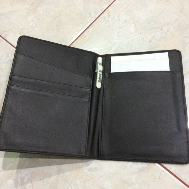 Dark Brown Leather Pouch Multifunction