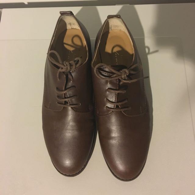 Dark Brown Oxford Shoes
