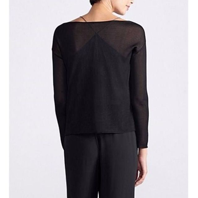 Eileen Fisher Paneled Mesh Top - Size L - 63% Off!!