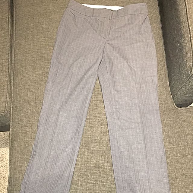 Elie Tahari Grey Pinstripe Dress Pants