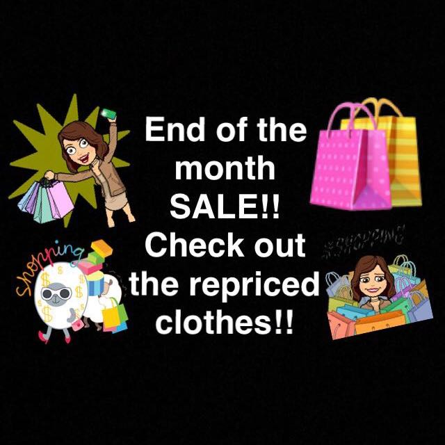 END OF THE MONTH SALEEE