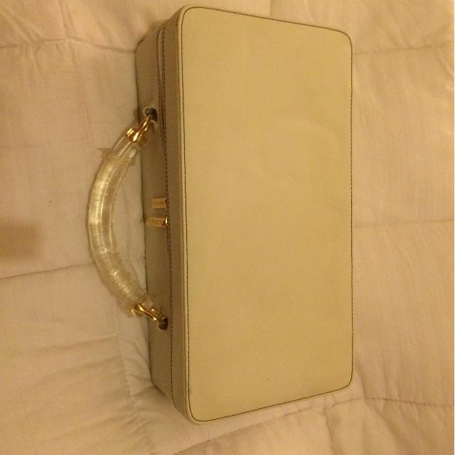Estee Lauder white Cosmetics Case