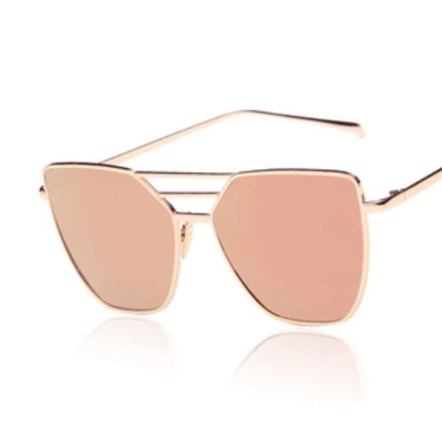 Flat Top Rose Gold Men Women Mirror