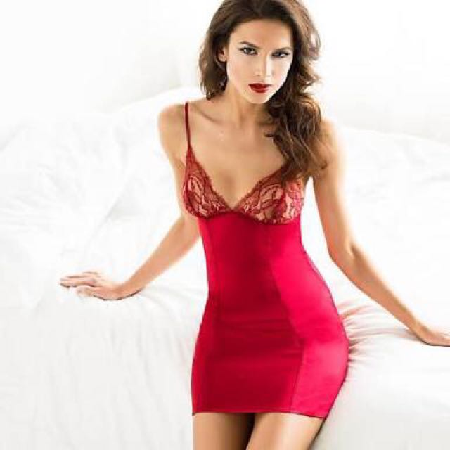 Fleur of England Red Silk Mix Amour Baby Doll Chemise Negligee Small RRP $270