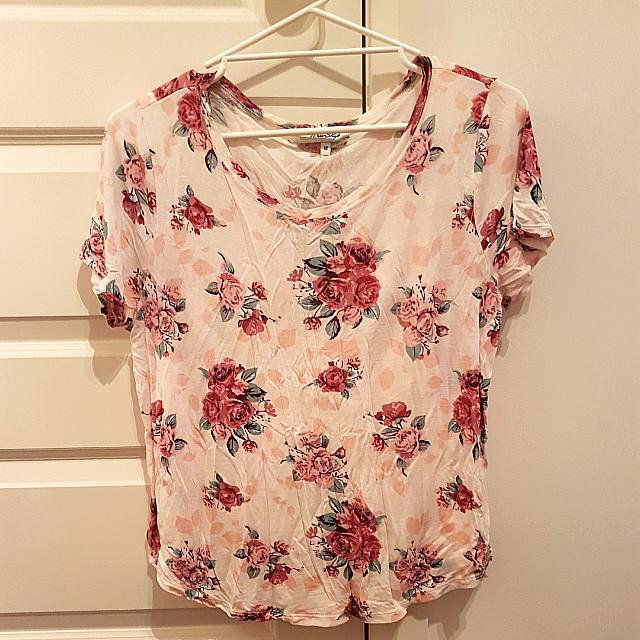 Size 12 Floral Miss Shop Casual Tee