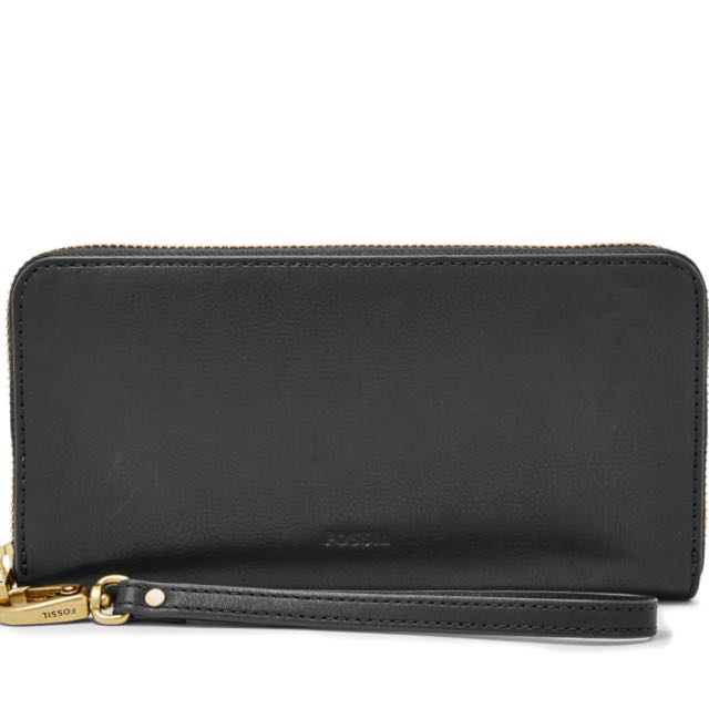 Fossil Large Black Leather Wallet