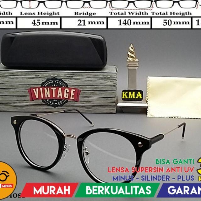 Frame Kacamata Vintage Kode KC1512 Pria   Wanita Bisa Ganti Lensa ... 3f845a2c05