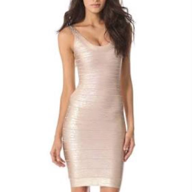 "Herve Signature Scoop Neck Foil Dress Style ""Catherine"""