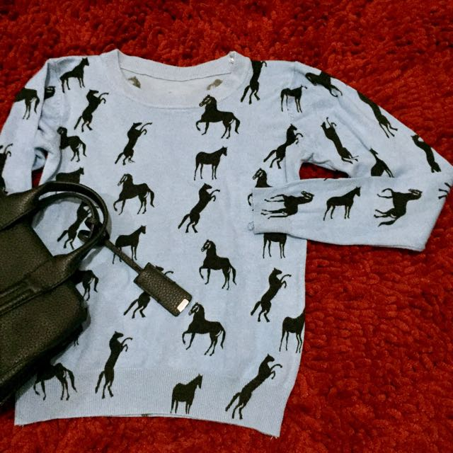 Horse Knit Top