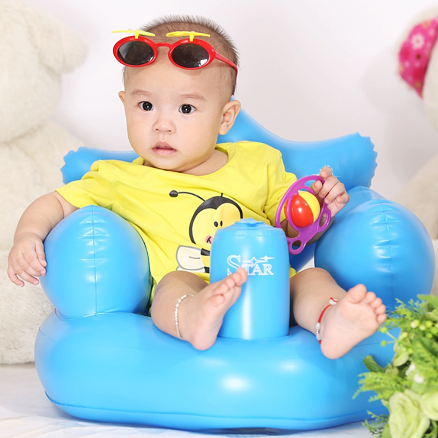 INFLATABLE Baby Sofa / Training Chair / Bathing Chair ( IN-BUILT ...