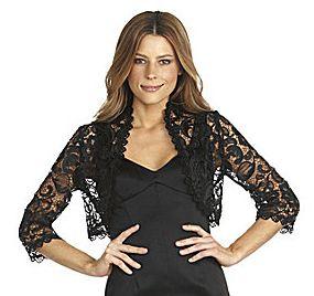 Jones New York Lace Bolero Jacket - Size 6