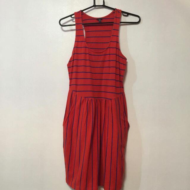 Kamiseta Orange Stripes Dress