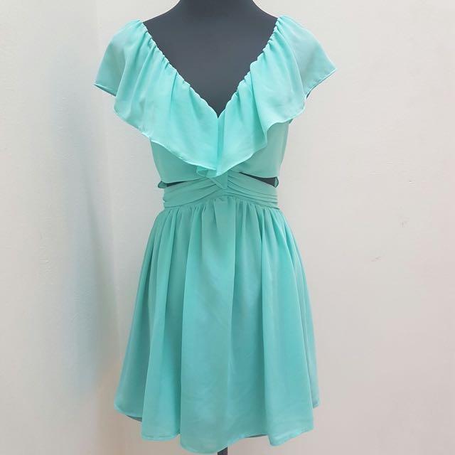 KEEPSAKE frill short cutout dress