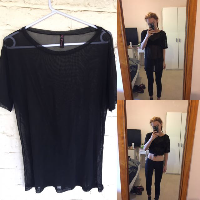 long mesh tshirt