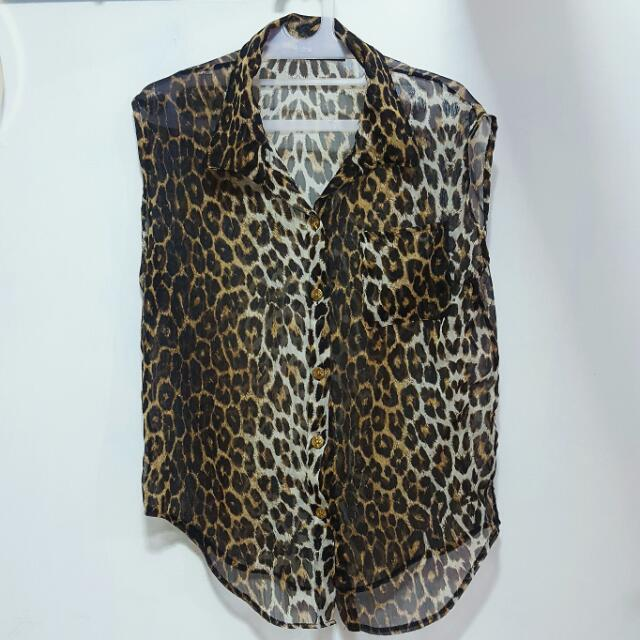 REPRICE Marc Jacob Leopard Top